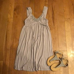 Soprano small grayish purple beaded dress
